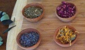 Herbs: Skullcap, Rose Petals, Lavender, Calendula